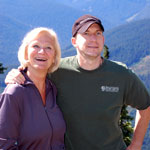 It was an amazing day for Linny and their son, Glenn, as they hiked up Poe Mountain!